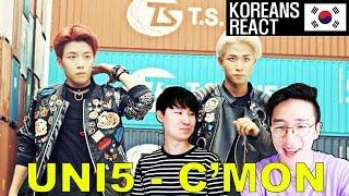 KOREANS React to UNI5 - C'MON! (First Vpop Reaction)