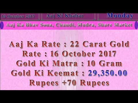 Aaj Ka Rate Gold, Silver, Currency, Share Market 16 October 2017 India Market News in Hindi