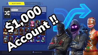 Tous les skins Fortnite que je possède! I REGRET BUYING SOME $1,000 Skin Gallery (en)