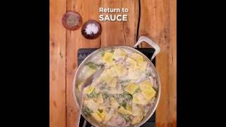 Latina Fresh Gluten Free Beef Ravioli With Mushrooms, Kale And Thyme Recipe