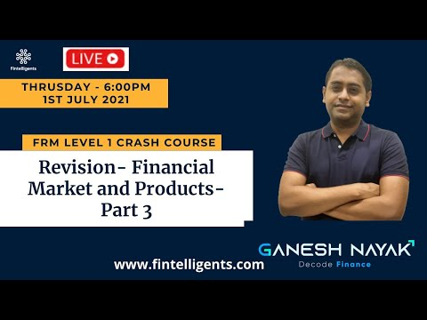 FRM L1 Crash Course Session No 12 - Part 3 - Financial Market & Products | All Learning Objectives