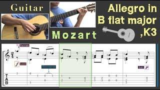 Allegro in B flat major, K3 / Mozart (Guitar)