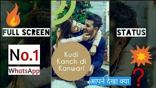 New 👉 Love 👥 Status 💓|Full screen WhatsApp Status|| Black pari