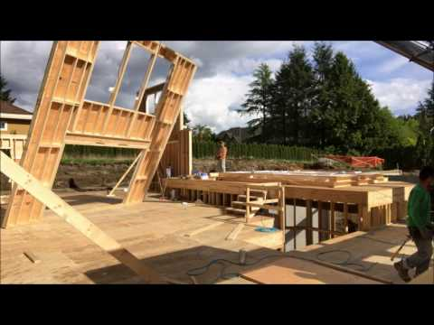 Construction Framing Timelapse , Surrey BC