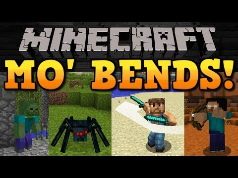 Minecraft: TAKE IMMERSION TO A WHOLE NEW LEVEL! The Mo' Bends Mod Showcase!