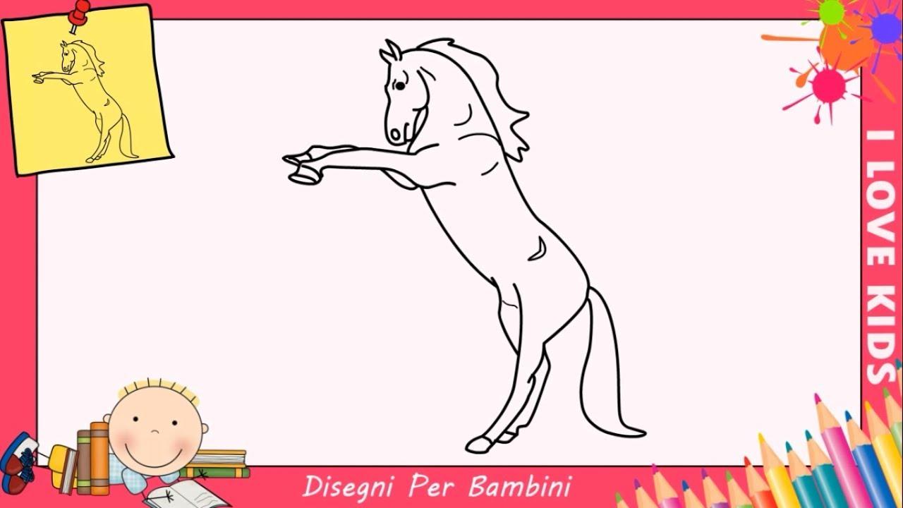 Come Disegnare Un Cavallo Facile Passo Per Passo Per Bambini