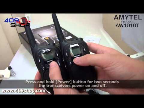 AMYTEL License-free walkie-talkie 10km AW1010T x 1 pair