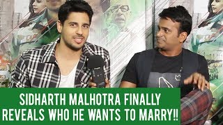 Sidharth Malhotra tells us which Bollywood actress he wants to marry!!