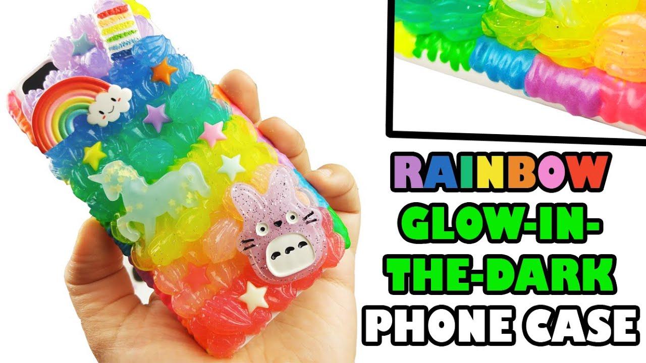 DIY RAINBOW GLOW IN THE DARK PHONE CASE - YouTube