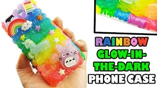 DIY RAINBOW GLOW IN THE DARK PHONE CASE