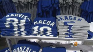 Dodger World Series Merchandise Is Already A Hit
