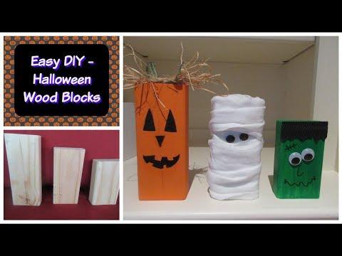 Easy DIY - Halloween Wood Blocks | Halloween Decorations!