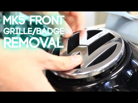 How to Remove a MK5 Front Badge and Grille
