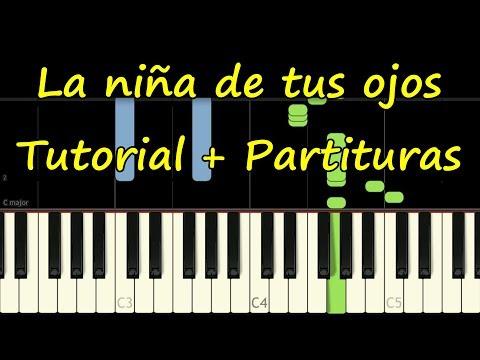 LA NIÑA DE TUS OJOS - Piano Tutorial + Partitura PDF Gratis - Jesus Adrian Romero - Synthesia