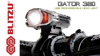 How to use the Blitzu Gator 380 USB Rechargeable LED Bicycle/ Bike Head Light