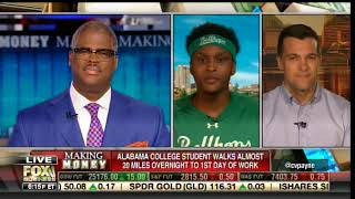 Charles Payne Chokes Up After Talking to Black College Student Who Walked 20 Miles to 1st Day Work