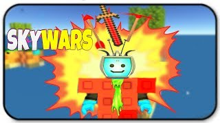 Roblox Skywars - Ruby Armor And Ruby Weapons Gameplay - I Am A Gem In The Skyblock