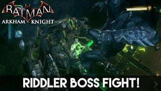 (OnlineGamer Pro)Batman Arkham Knight Riddler Boss Fight And JOKERMOBİLE