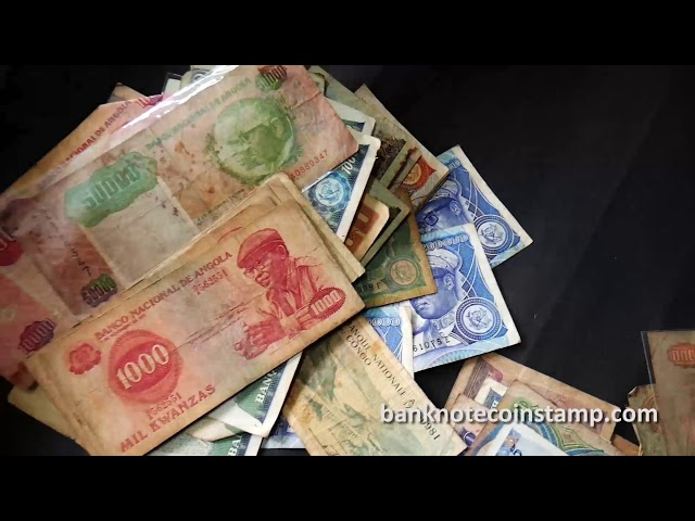 World used Condition Banknotes Angola Currency - Part 2