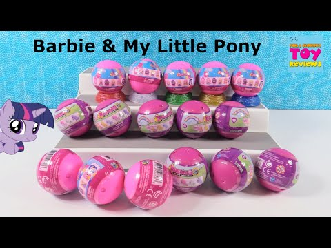 Mashems My Little Pony & Barbie Squishy Fun Blind Bag Toy Opening | PSToyReviews