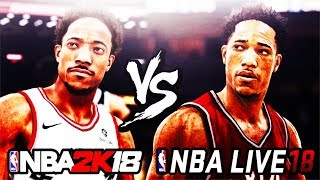 NBA Live 18 vs NBA 2K18 OFFICIAL Gameplay Screenshot Comparison Hairstyle News MyTEAM The One MyPark