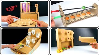 WOW ! 4 Amazing Desktop game from cardboard at home [Mr h2 Diy - Compilation]