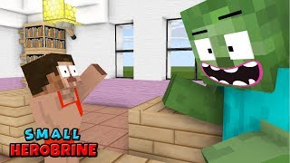 Monster School | Small Herobrine CHALLENGE  | Monster School