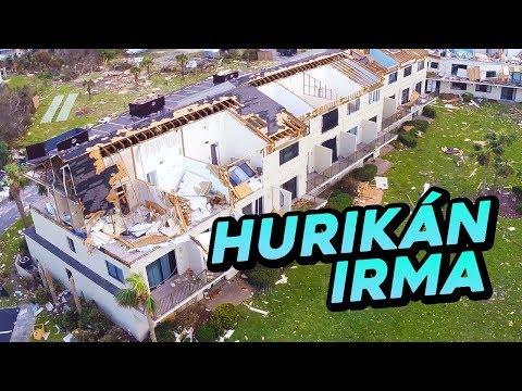 HURIKÁN IRMA - Tornádo & zničené domy z dronu