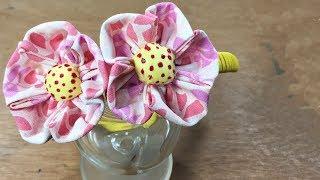 Flor de tecido – artesanato com tecido – DIY