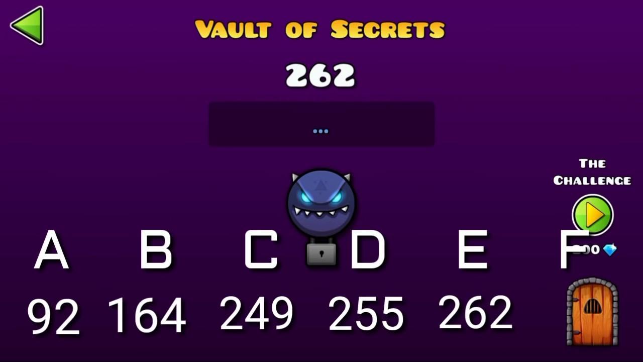 Geometry dash world all secret vault codes treasure for Vault of secrets