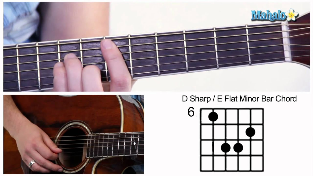 How To Play D Sharp E Flat D Eb Bar Chord On Guitar 6th Fret