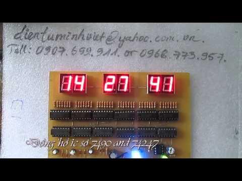 Mạch đồng hồ ic số 7490 và 74247 - Việt Dương