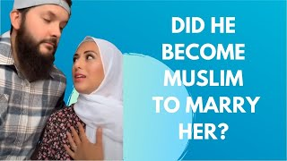 Did he become MUSLIM to marry HER? #shorts