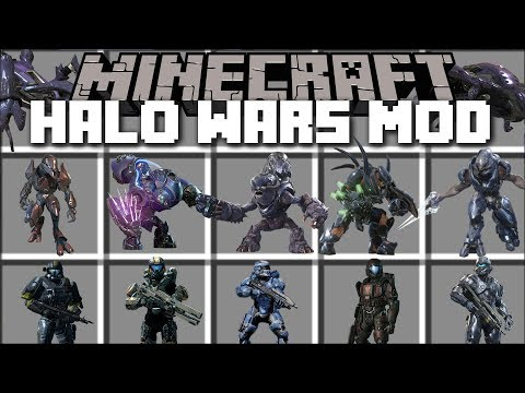 Minecraft HALO WARS MOD / FIGHT OFF THE EVIL MOBS AND WIN THE BATTLE!! Minecraft