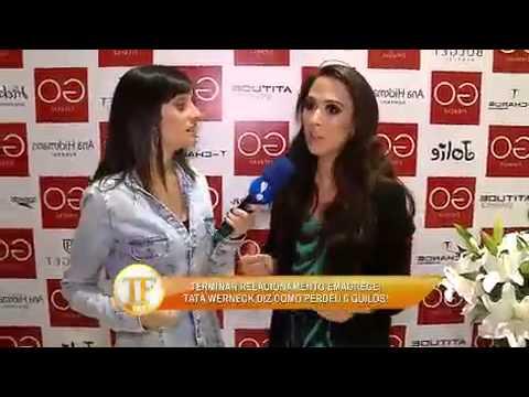 TV FamaTatá Werneck Tenta Dar 'beijo Gay' Em Repórter Do Fama - TV Fama 21/04/2014