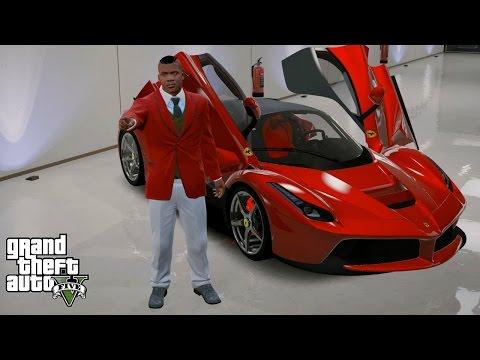 GTA 5 REAL LIFE MOD#90-FRANKLIN'S NEW LA FERRARI