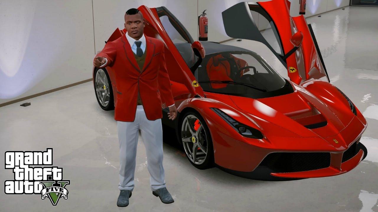 Gta 5 Real Life Mod 90 Franklin S New La Ferrari Youtube