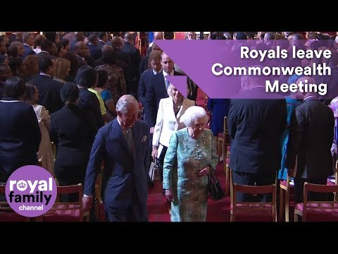Royal Family departs opening of Commonwealth Heads of Government Meeting at Buckingham Palace