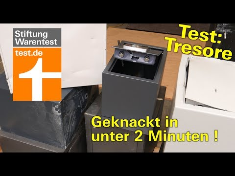 Test Tresore: Billige Sind Schnell Geknackt - 70 Vs. 400 € Im Aufbruchstest