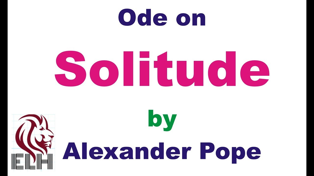 ode on solitude