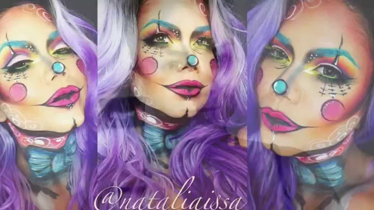 Clown Circus Inspired Makeup Tutorial (halloween 2015) - YouTube