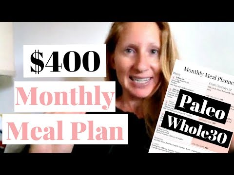 June 2017 Whole30 Meal Plan | Paleo Meal Plan on a Budget