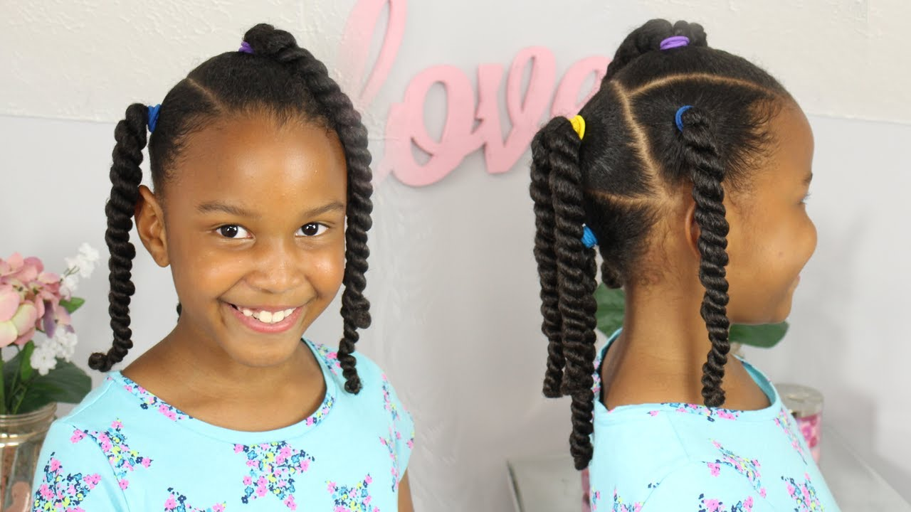 girl kids hair style easy ponytail hairstyles black 6583 | maxresdefault