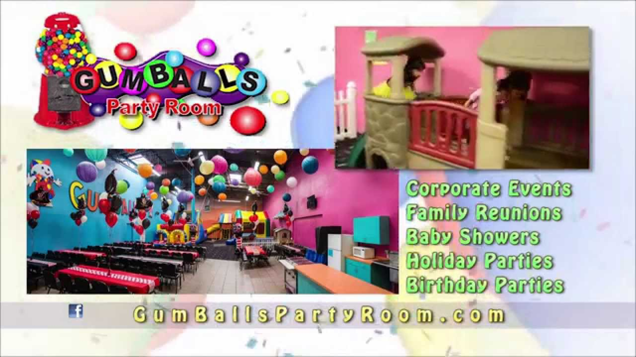 Gumball party rooms youtube for Kids party rooms in el paso tx