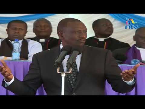 'We must conserve out environment to avoid floods and disasters like this' - DP Ruto speech in Solai