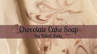 Chocolate Cake Soap | Cold Process Soap by Kilted Suds | Confetti Soap | Divided Pour