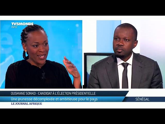 Sénégal : Ousmane Sonko est linvité du Journal Afrique de TV5MONDE