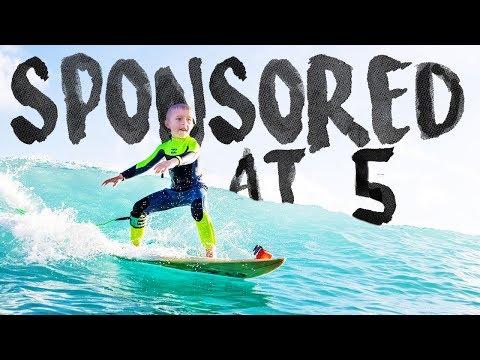 5 Year Old Sponsored Surfer // Waikiki Beach, Hawaii