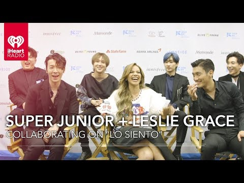 Super Junior + Leslie Grace Talk