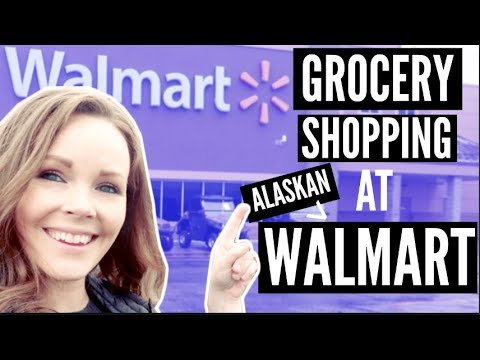 GROCERY SHOPPING AT ALASKAN WALMART   NORTHERN MOST WALMART  Somers In Alaska Vlogs